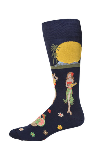 Navy Luau Socks