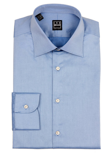Blue Italian Twill Dress Shirt
