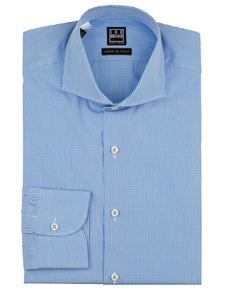Blue Gingham Dress Shirt