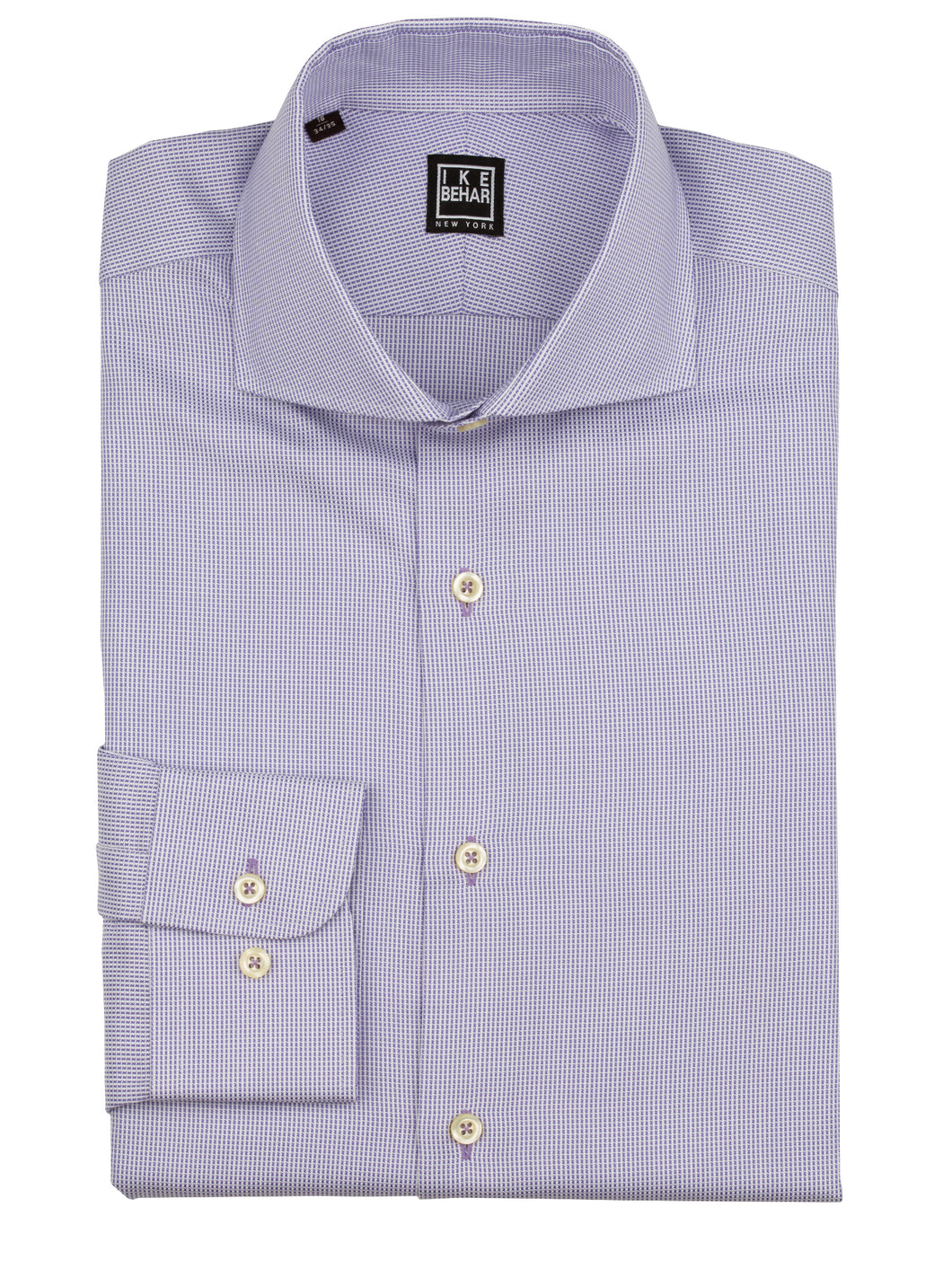 Lilac Panama Texture Weave Dress Shirt