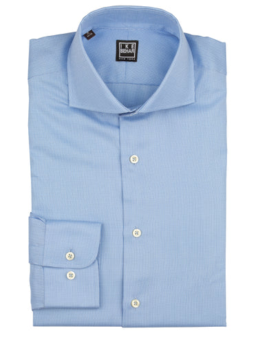 Light Blue Panama Texture Weave Dress Shirt