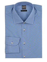Cornflower Blue Check on the Diagonal Dress Shirt