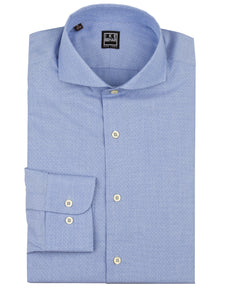 Blue Dobbie Dot Dress Shirt