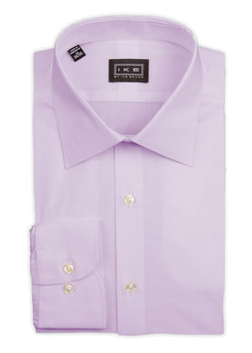 Lilac Broadcloth Ike by Ike Behar Dress Shirt