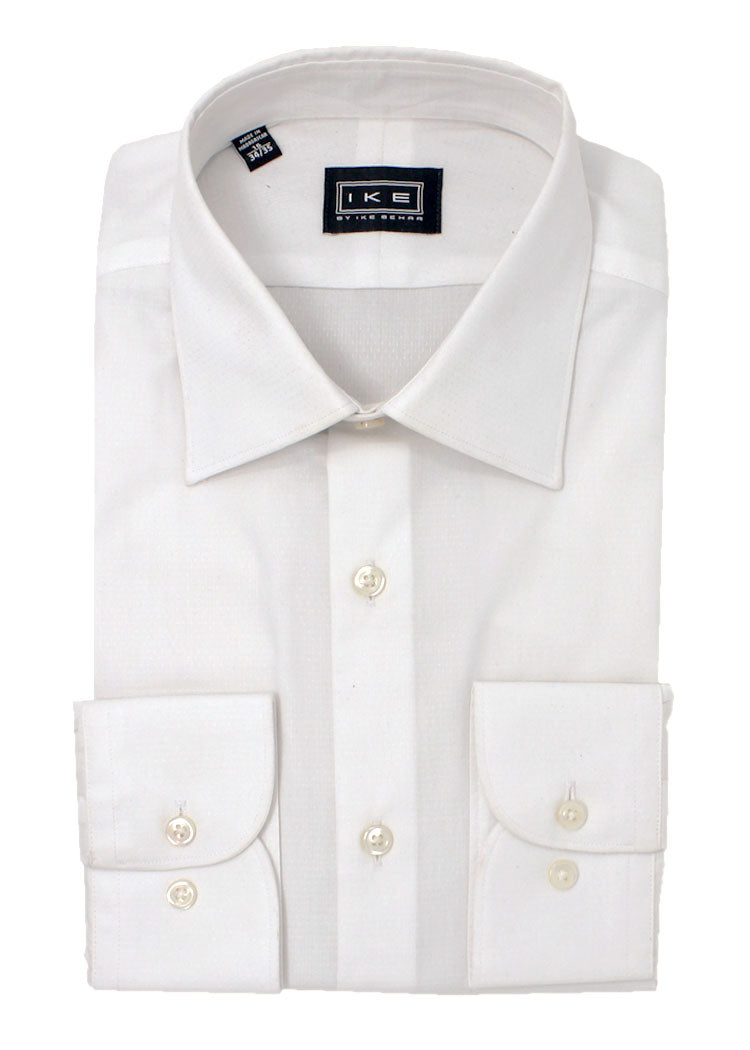 White on White Tonal Dot Ike by Ike Behar Dress Shirt