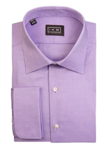 Lavender Royal Oxford French Cuff Ike by Ike Behar Dress Shirt
