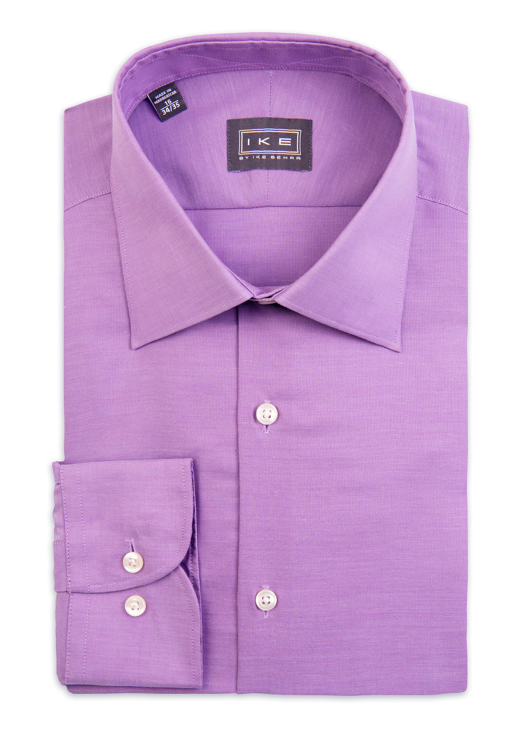 Lavender Textured Ike by Ike Behar Dress Shirt