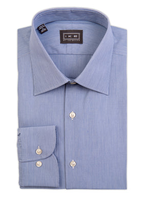 Mid-Blue Hairline Stripe Ike by Ike Behar Dress Shirt