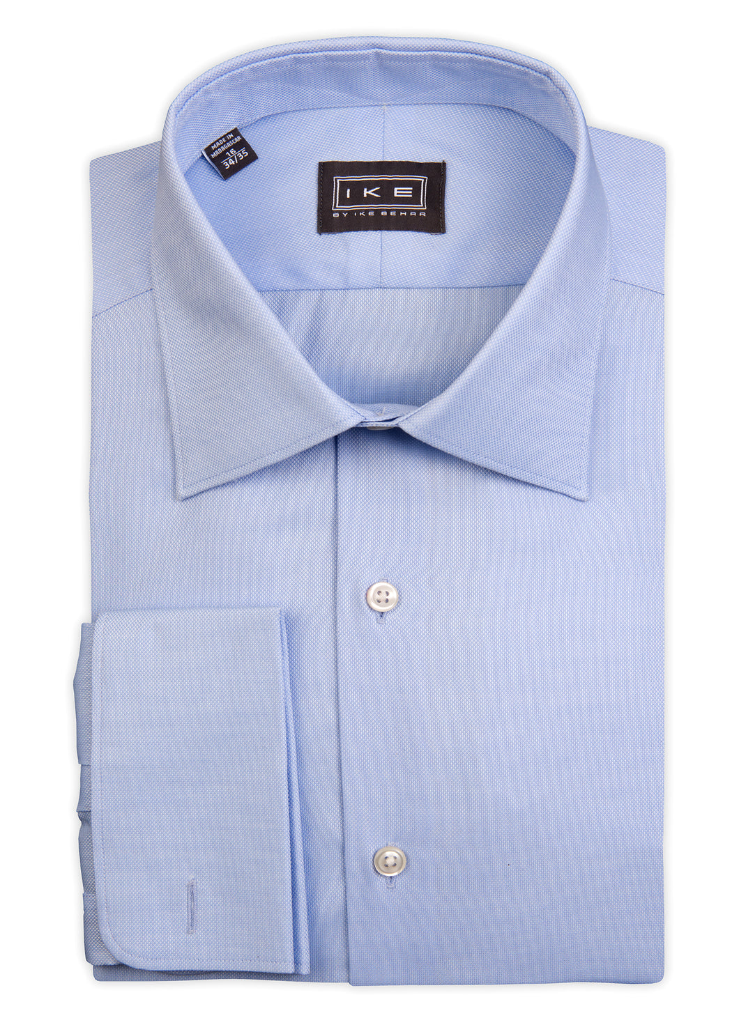 Blue Royal Oxford French Cuff Ike by Ike Behar Dress Shirt