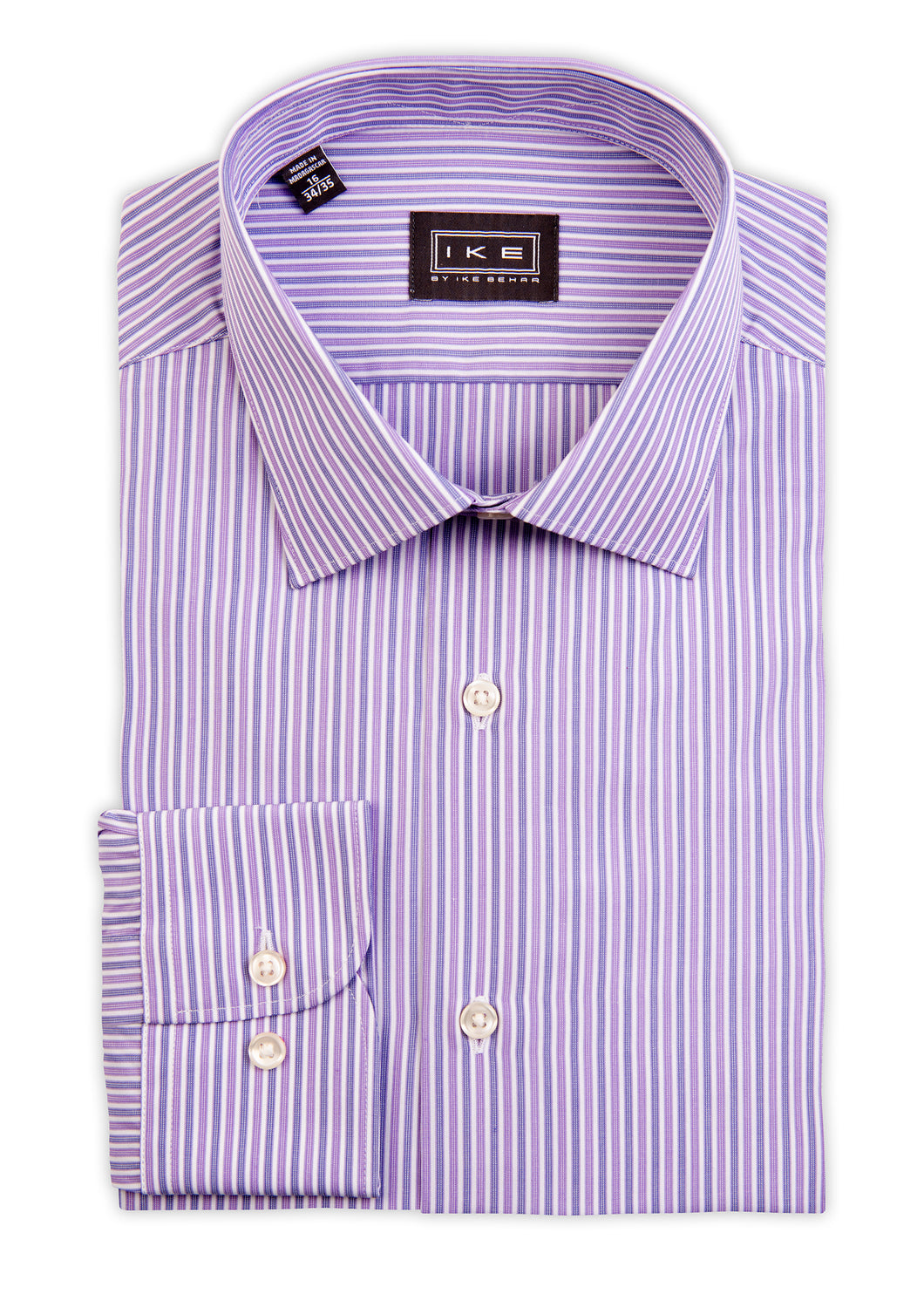 Lavender Multi-Stripe Ike by Ike Behar Dress Shirt