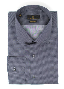 Dark Navy Dot Pattern Sport Shirt