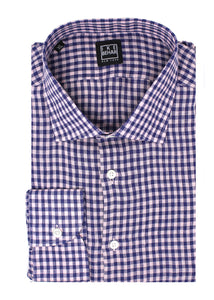 Pink & Navy Check Linen Sport Shirt