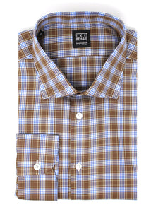 Brown & Sky Check Sport Shirt