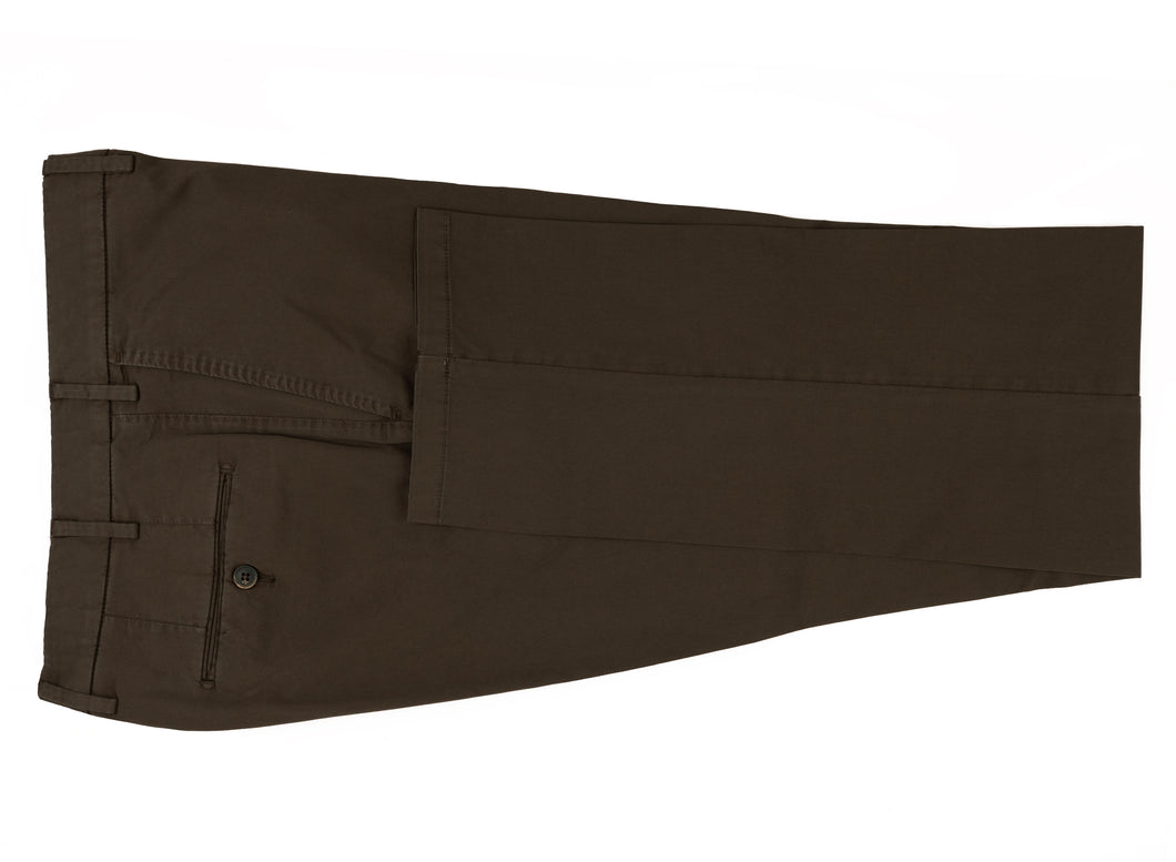 Chocolate Stretch Cotton Pants