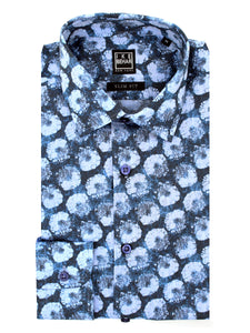 Graphic Floral Print Sport Shirt