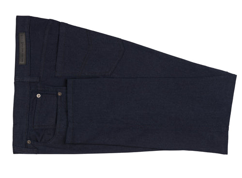 Dark Navy Ike by Ike Behar Five-Pocket Stretch Jeans