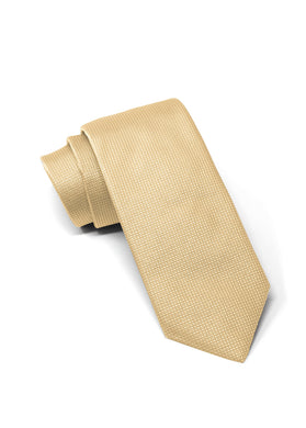 Gold Silk Square Weave Tie