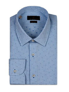 Searsucker Micro-Dot Sport Shirt
