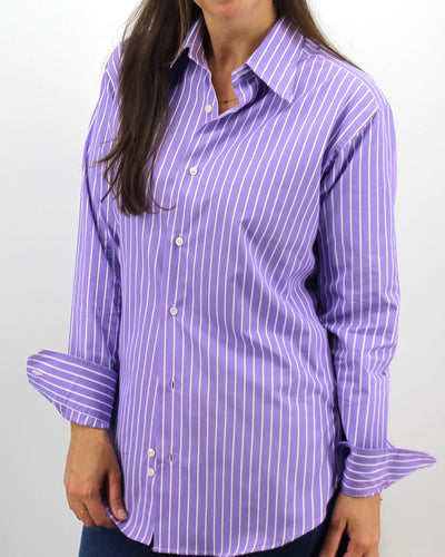 Ladies' Purple Stripe Shirt