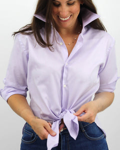 Ladies' Lavender Mini-Chevron Shirt