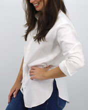 Ladies' White Twill Shirt