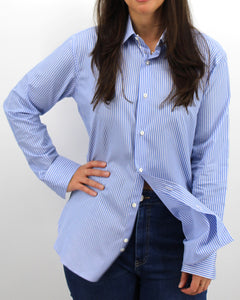 Ladies' Blue & White Shirt