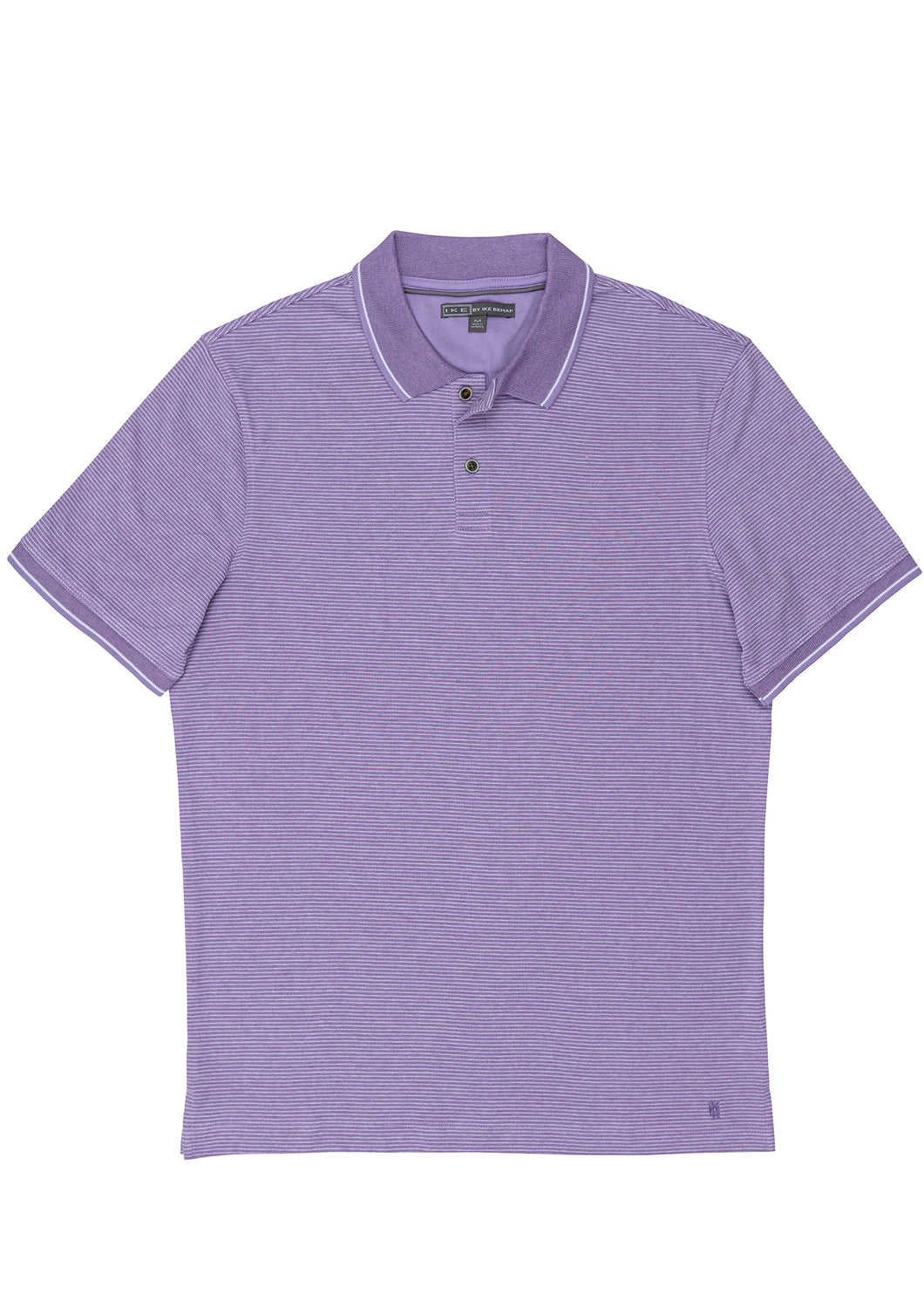 Violet Marbled Fineline Stripe Polo Knit