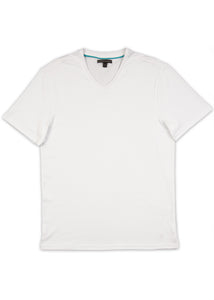 White Pima V-Neck T-Shirt
