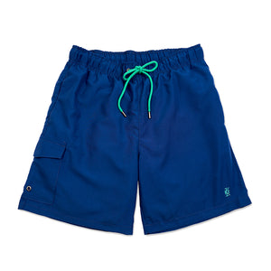 Navy Cargo Quick Dry Swim Shorts