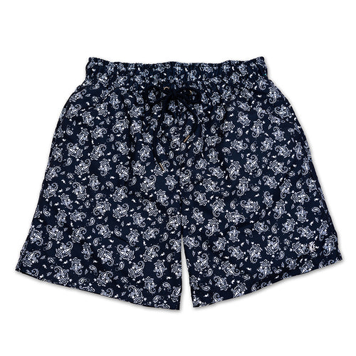 Navy Paisley Quick Dry Swim Shorts