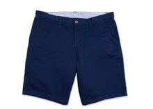 Flat Front Navy Stretch Shorts