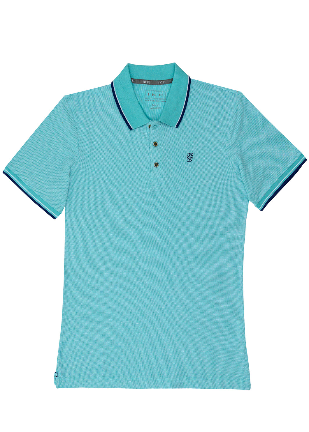 Lagoon Honeycomb Polo Knit