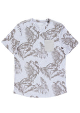 Leaf Print V-Neck T-Shirt