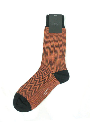 Orange Herringbone Socks