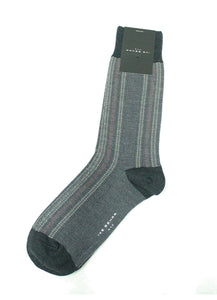 Charcoal Pin Dot Socks