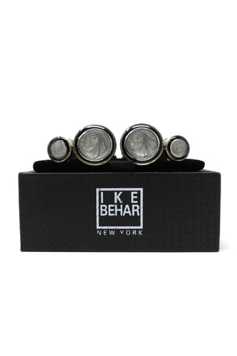 Black and Grey Cufflink and Stud Set