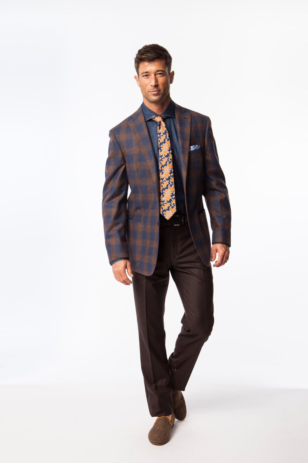 Blue with Ombre Window Pane Sport Coat