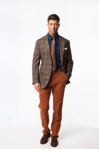Brown Plaid Sport Coat