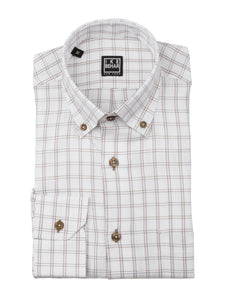 White with Coffee Check Sport Shirt