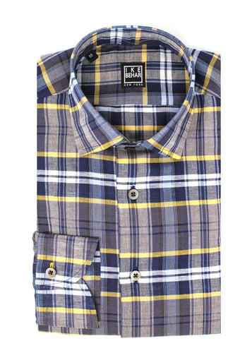 Multi-Plaid Sport Shirt