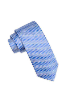 Royal Blue Silk Tonal Dot Tie