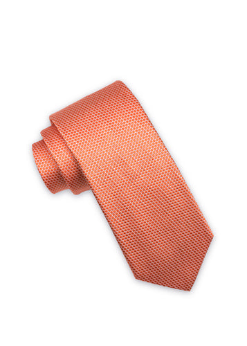 Orange Silk Tonal Dot Tie