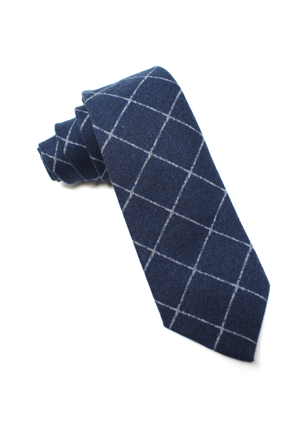 Navy Flannel Tie with Chalk Stripe Window-Pane