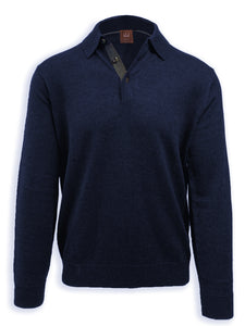 Ocean Merino Wool Polo Sweater