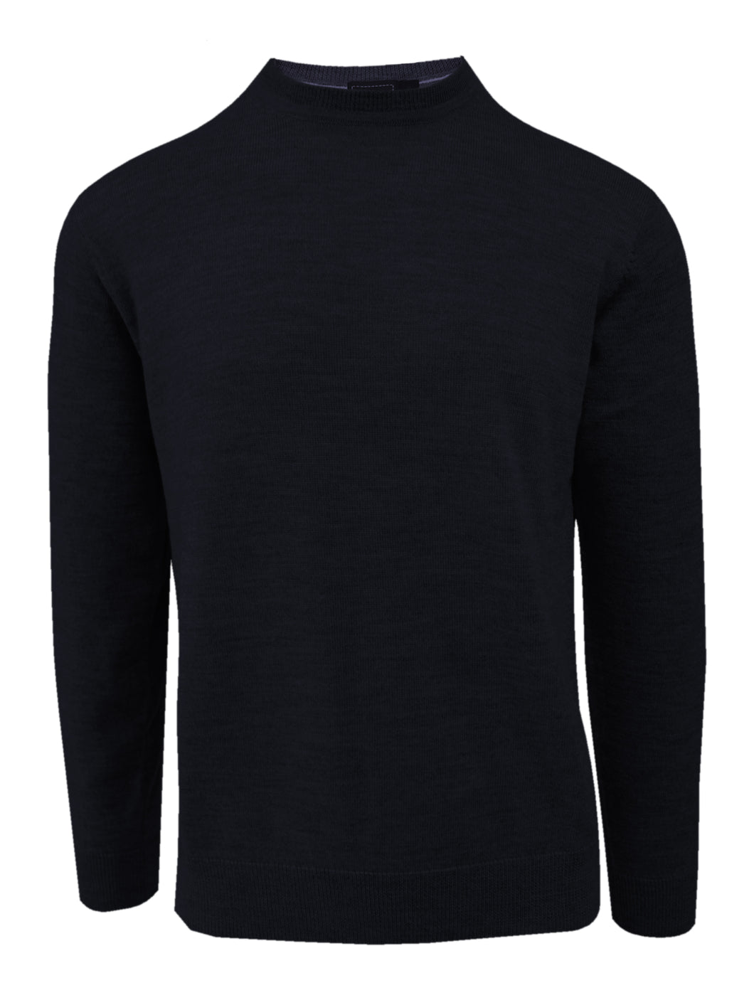 Navy Merino Wool Crew Neck Sweater