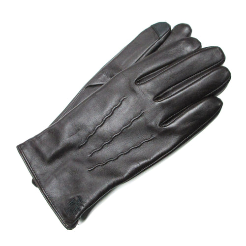 Conker Leather Gloves with Lambswool Lining