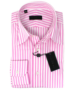 Ladies' Pink & White Striped Shirt