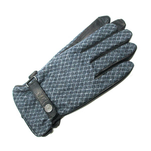 Charcoal Diamond Patterned Gloves