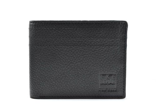 Genuine Leather Edge Stitched Wallet
