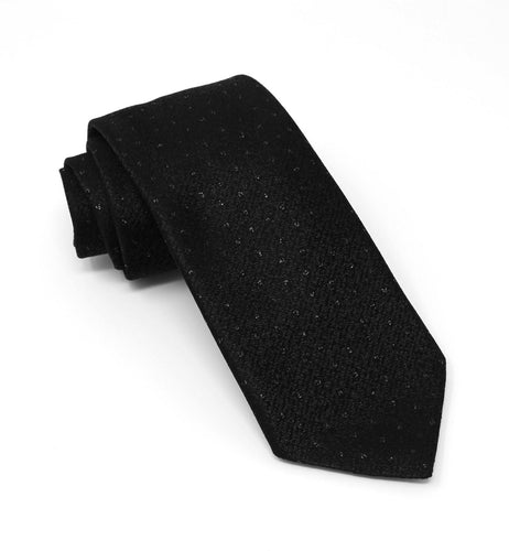 Black with Tonal Lurex Pin Dot Tie